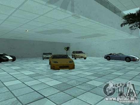 Plus de voitures au salon automobile de Doughert pour GTA San Andreas troisième écran