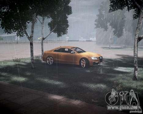 Audi RS5 2010 pour GTA 4 est une vue de l'intérieur