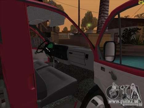 Gazelle 33021 für GTA San Andreas Rückansicht