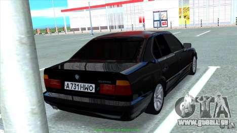 BMW E34 V1.0 pour GTA San Andreas vue de côté