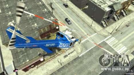 Bell412/NYPD Air Sea Rescue Helicopter pour GTA 4 est une vue de l'intérieur