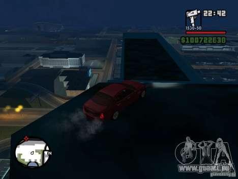 Maserati Quattroporte für GTA San Andreas zurück linke Ansicht