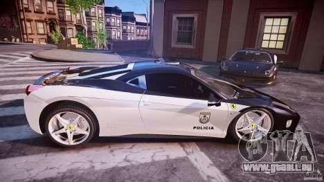 Ferrari 458 Italia - Brazilian Police [ELS] für GTA 4 Seitenansicht