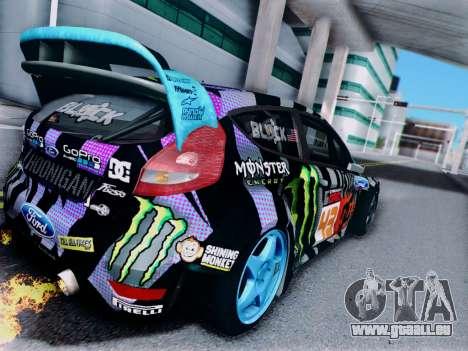Ford Fiesta Gymkhana 6 für GTA San Andreas rechten Ansicht