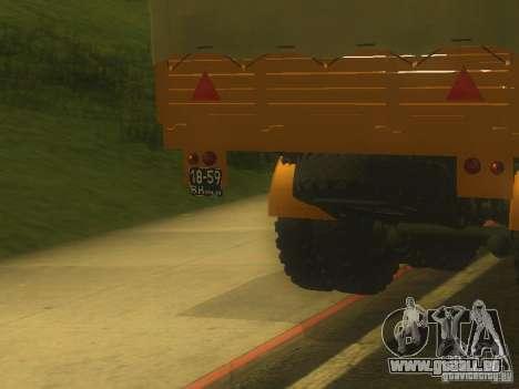 Remorque MAZ 5205 pour GTA San Andreas vue arrière