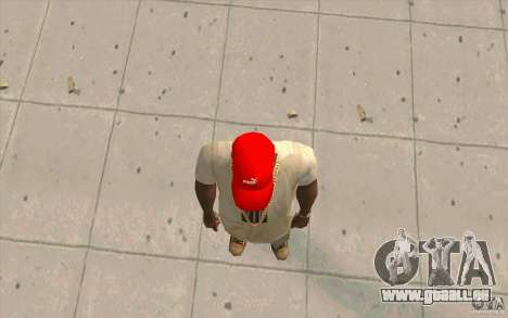PUMA Cap hellrot für GTA San Andreas dritten Screenshot
