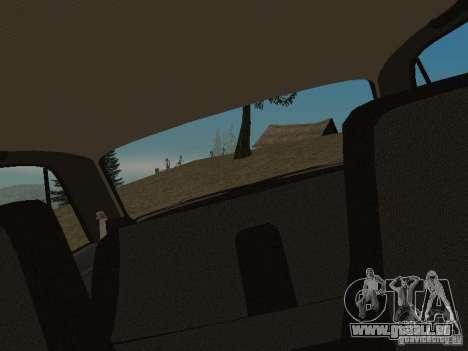 VAZ 2107 v1.1 pour GTA San Andreas vue arrière