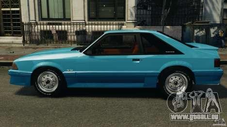 Ford Mustang GT 1993 v1.1 pour GTA 4 est une gauche
