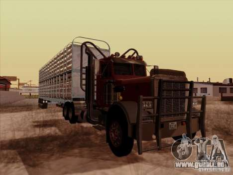 Peterbilt 359 Day Cab für GTA San Andreas zurück linke Ansicht