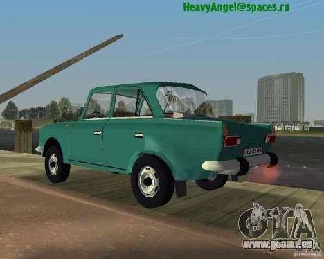 IZH Moskvitch 412 pour une vue GTA Vice City de la gauche