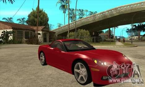 Chevrolet Corvette C6 Z51 - Stock pour GTA San Andreas vue arrière