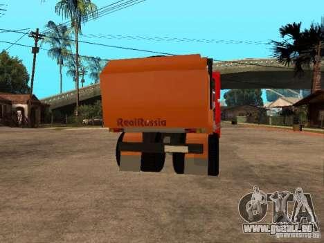 MAZ 54323 MÜLLWAGEN für GTA San Andreas Rückansicht