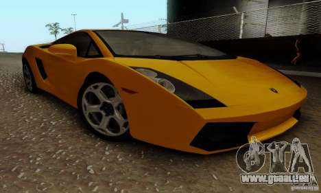 Lamborghini Gallardo pour GTA San Andreas vue intérieure