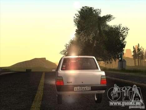 VAZ 1111 Oka Sedan pour GTA San Andreas vue intérieure