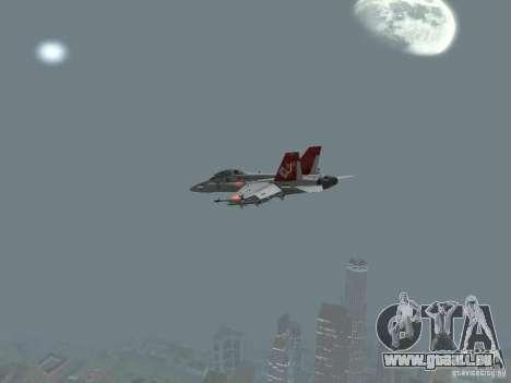 FA-18D Hornet pour GTA San Andreas vue de droite