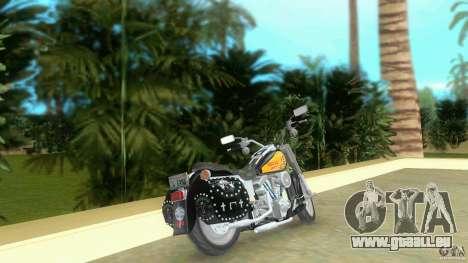 Harley Davidson FLSTF (Fat Boy) für GTA Vice City zurück linke Ansicht