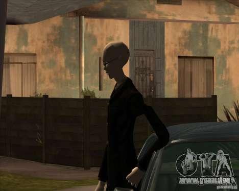 Slender en lunettes noires pour GTA San Andreas quatrième écran