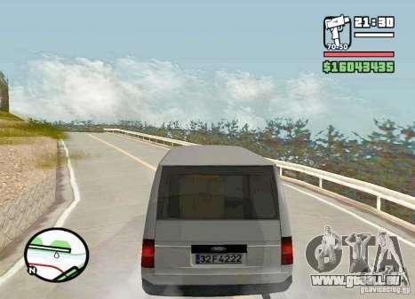 Ford Transit 1999 pour GTA San Andreas laissé vue