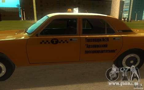 GAZ Volga 3102 Taxi pour GTA San Andreas sur la vue arrière gauche
