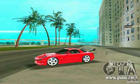 Mazda RX7 Charge-Speed pour GTA Vice City vue de dessous