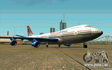 B-747 American Airlines Skin pour GTA San Andreas laissé vue