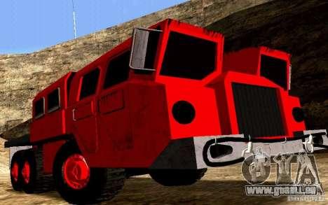 MAZ-7310 civile Version étroite pour GTA San Andreas vue arrière