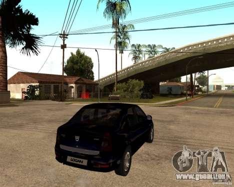Dacia Logan 2008 für GTA San Andreas rechten Ansicht