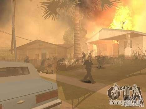 Tremblement de terre pour GTA San Andreas troisième écran