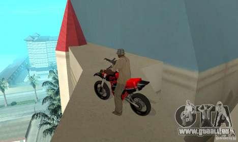 DT 180 Motard pour GTA San Andreas vue arrière