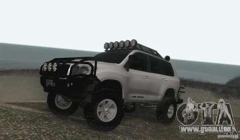 Toyota Land Cruiser 200 Off Road v1.0 pour GTA San Andreas laissé vue
