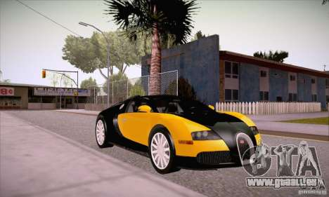 Bugatti Veyron 16.4 EB 2006 pour GTA San Andreas vue arrière