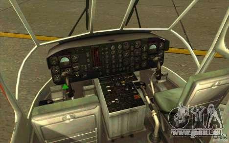 Sikorsky Air-Crane S-64E pour GTA San Andreas vue intérieure