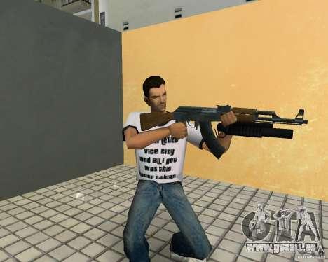 AK-47 avec un М203 de lanceur de grenade pour GTA Vice City