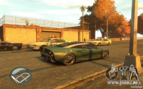 Spyker C8 Aileron pour GTA 4 Vue arrière