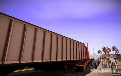 Dumper Trailer für GTA San Andreas linke Ansicht