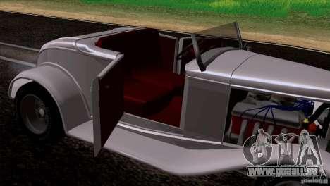 Ford Roadster 1932 pour GTA San Andreas vue intérieure