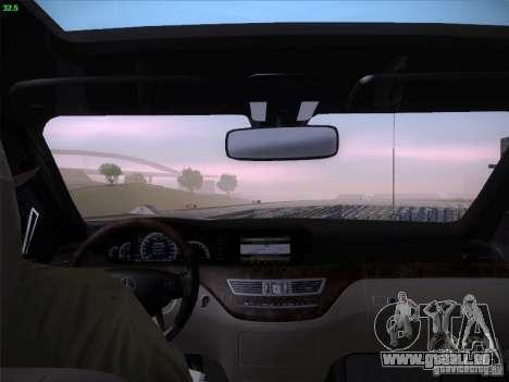 Mercedes-Benz S65 AMG V2.0 pour GTA San Andreas vue de dessus