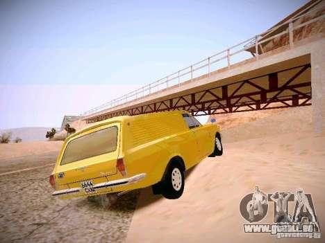 Volga GAZ-24 02 Van pour GTA San Andreas sur la vue arrière gauche