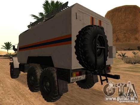 Ural 4320 MOE pour GTA San Andreas laissé vue
