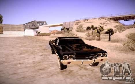 Chevrolet El Camino SS 1970 pour GTA San Andreas laissé vue