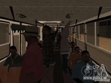 Trailer-Ikarusu 280.46 für GTA San Andreas zurück linke Ansicht