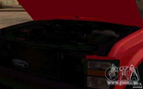 Ford F250 Super Dute für GTA San Andreas Rückansicht