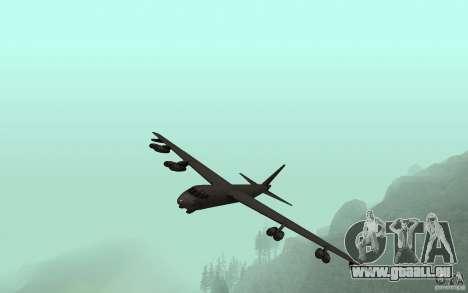 Boeing B-52 Stratofortress pour GTA San Andreas vue intérieure