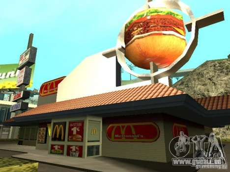 Mc Donalds für GTA San Andreas neunten Screenshot