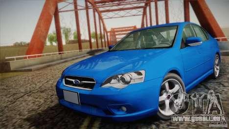 Subaru Legacy 2004 v1.0 pour GTA San Andreas vue arrière