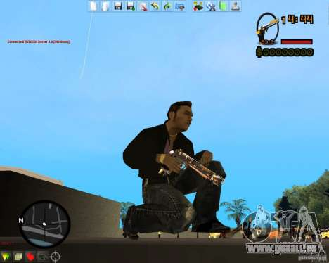 Smalls Chrome Gold Guns Pack pour GTA San Andreas quatrième écran