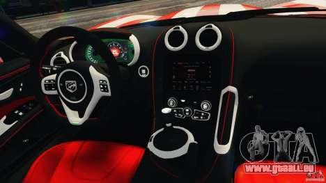 Dodge Viper GTS 2013 pour GTA 4 vue de dessus
