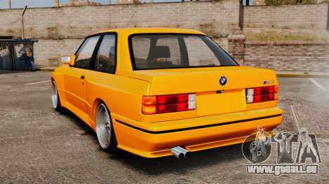 BMW M3 E30 v2.0 pour GTA 4 Vue arrière de la gauche