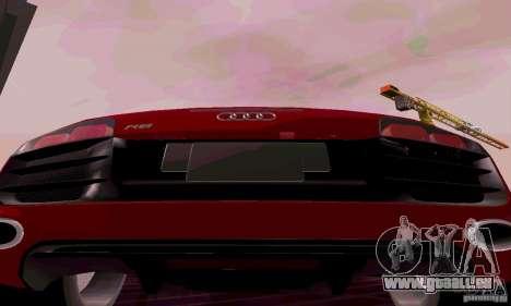 Audi R8 V10 Spyder 5.2. FSI pour GTA San Andreas vue de droite