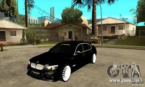 BMW 7-er F02 HAMANN 2010 pour GTA San Andreas